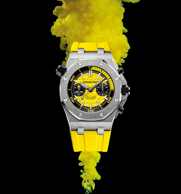 bright yellow replica AP watches
