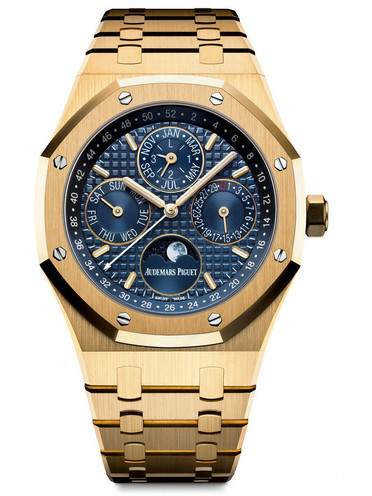Audemars Piguet Royal-Oak fake watches with golden cases are symbol of nobility.