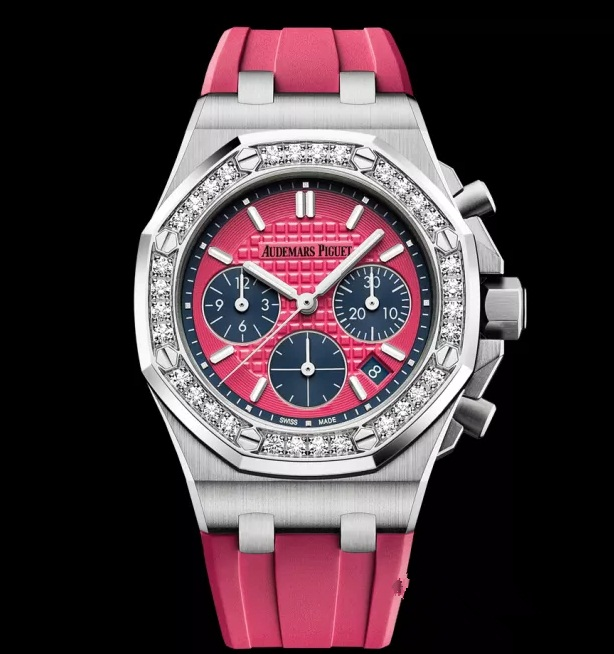 Diamonds add more luxury for beautiful fake watches.