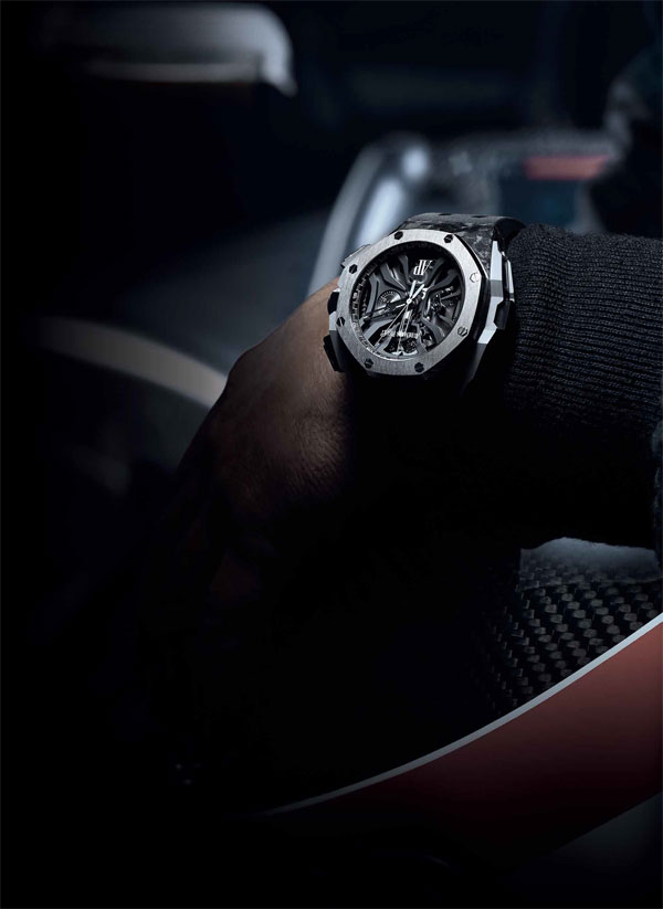 Audemars Piguet Royal Oak Concept replica watches adapt complex hollowed design.