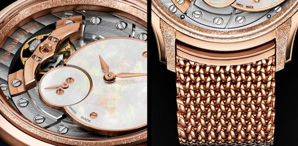 The luxury replica watches are made from 18k rose gold.