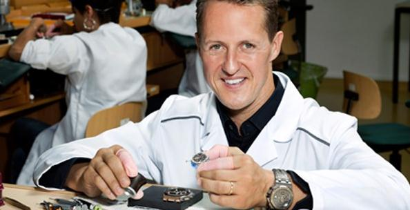 Michael Schumacher took part into the creation of the fine watches by himself.