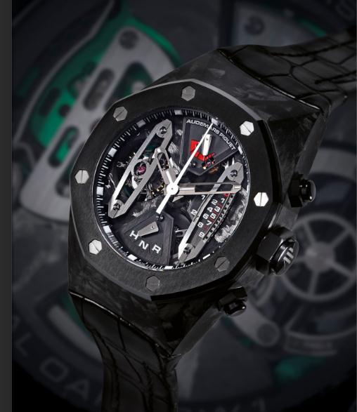The sturdy replica watches are made from forged carbon.