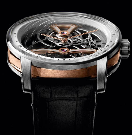 The timepiece presents the brand's high level of watchmaking craftsmanship.