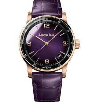 The color matching of rose gold and purple is eye-catching.